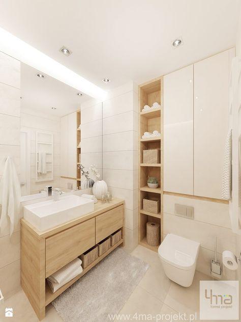 Projekt Salonu Z Aneksem Kuchennym 22 M2 I łazienki 5,2 M2.   Łazienka