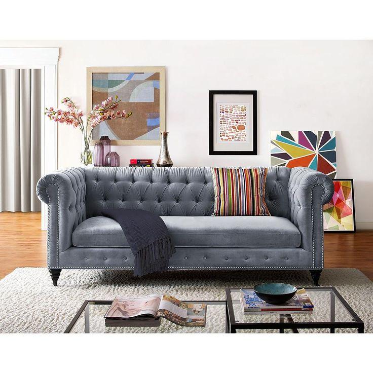 Old Hollywood Glamour Living Room Navy Velvet