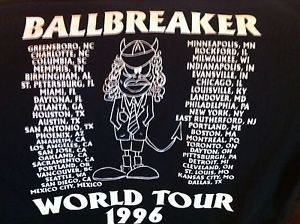 Vintage AC/DC 1995 Ballbreaker Concert Shirt XL  Brockum Tag Mint Cond. Flawless  | eBay