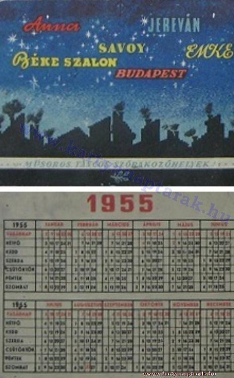1955 - 1955_0024 - Régi magyar kártyanaptárak