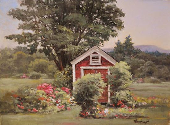 the garden shed by woodward simons oil 12 x 16 garden shedsnew hampshireoil - Garden Sheds New Hampshire