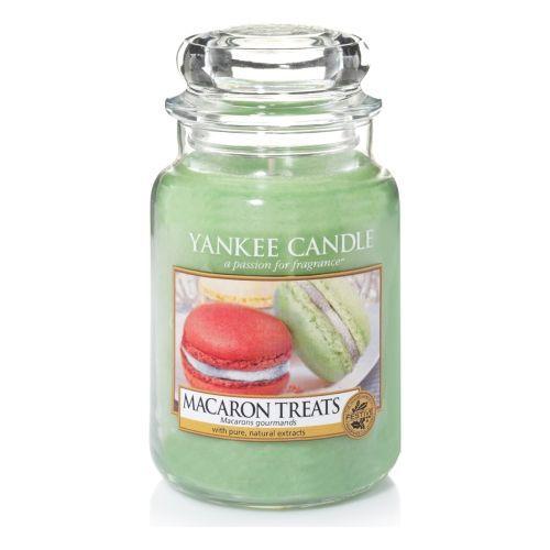 """Yankee Candle - Macaron Treats: """"De klassieke Parijse Macaron, sweet as can be en lichter dan lucht, met noten van vanille, amandel en natuurlijk: suiker."""" Geur"""