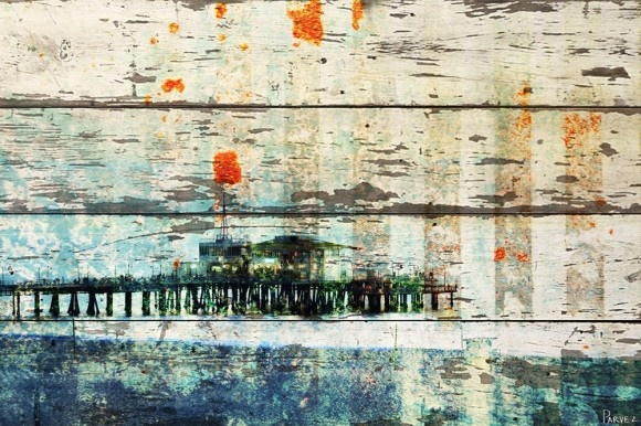 The White Barn Collection be Parvez Taj: Wall Art, Reclaimed Barns Wood, Reclaimed Wood, White Barns, Parvez Taj, Santa Monica Pier, Parveztaj Santa, Art Pieces, Barns Collection