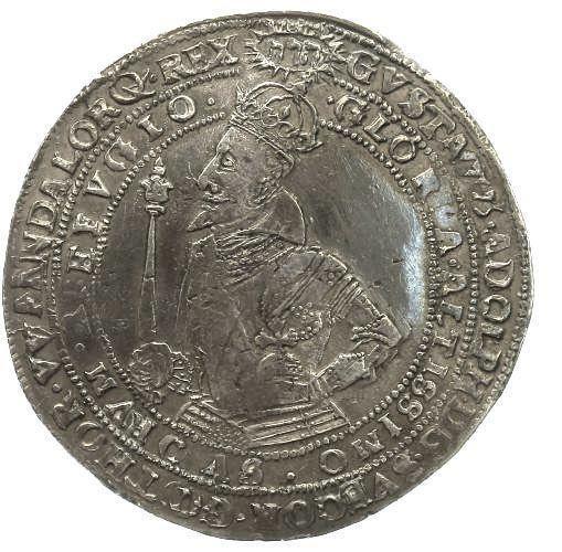 Gustav II Adolf, 1 Riksdaler, 1617, Sweden, extremely good quality -- sällsynt bra kvalité!