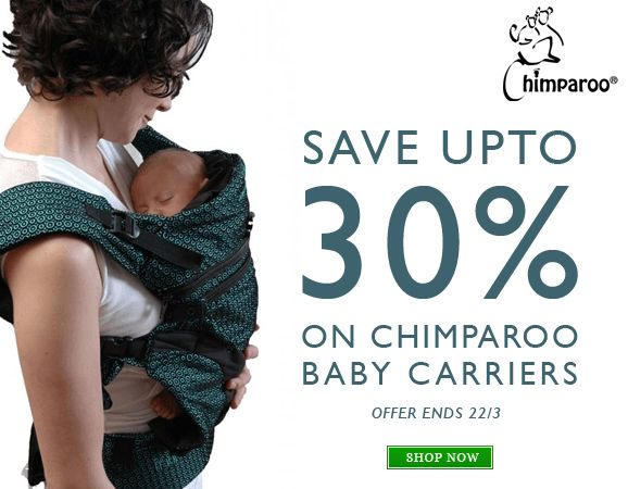 Chimparoo is having a sale in partnership with selected retailers. Until March 22nd !! #Babywearing #sale