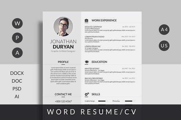 Resume/CV by Mr-Template on @creativemarket