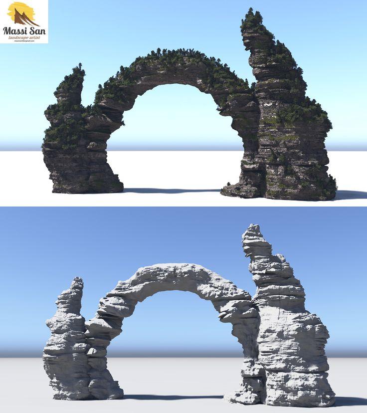 ArtStation - stone_monument_concept, massimo verona