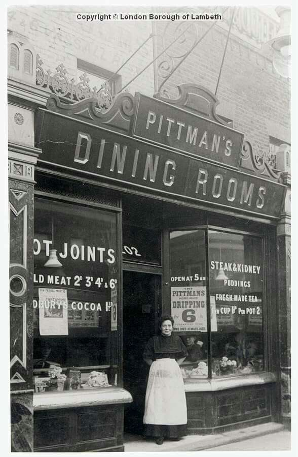Pittman's Dining Rooms, Vassal Road, Brixton North. circa 1909