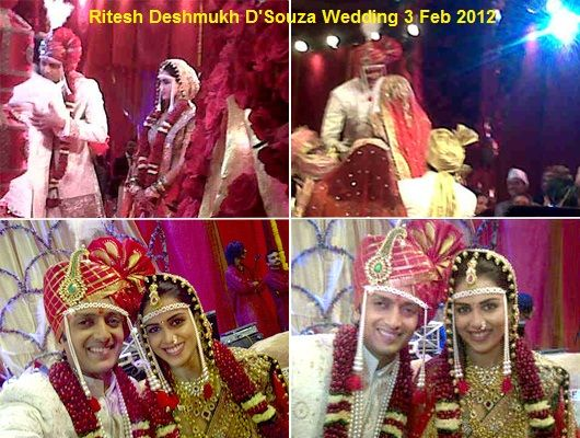 Ritesh Deshmukh D'Souza Wedding Pictures Videos