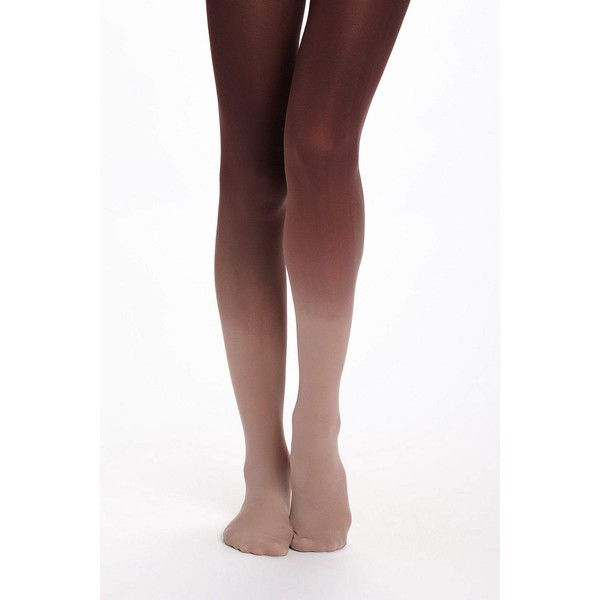 Opaque Ombre Tights (81 MXN) ❤ liked on Polyvore featuring intimates, hosiery, tights, legs, nylon tights, nylon pantyhose, nylon stockings, opaque hosiery and opaque pantyhose