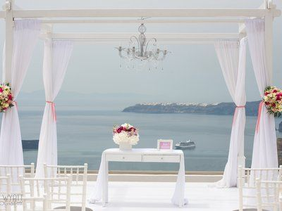 Luxury Private Estate wedding in Santorini