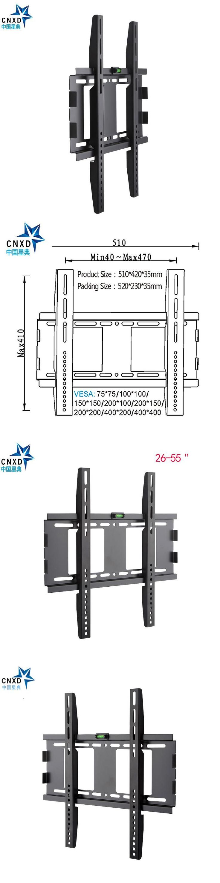 Slim Stable TV Wall Mount Bracket for 26-55 inch LCD LED 3D Plasma TVs Super Strong 88lbs Weight Capacity