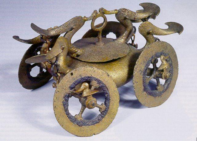 Dacian Society - Romanian History and Culture - Car solar din fier si bronz, Teleorman