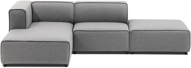 BoConcept Carmo Sofa mit hellgrauem Lux Felt Stoff  #boconcept #scandinaviandesign #interiordesign #interior #design #homedecor