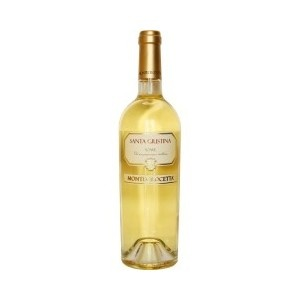 Santa Giustina - A clear yellow wine with golden tones, the bouquet is aromatic with floral and fruity end notes.  Has a fresh yet dry texture with a good structure and well-balanced taste. A good aperitif; can accompany delicate dishes or white fish. Serve at 10°C.  Alc: 13% - Comp: 90% Garganega, 10% Trebbiano di Soave - Shelf life: 3 to 5 years.