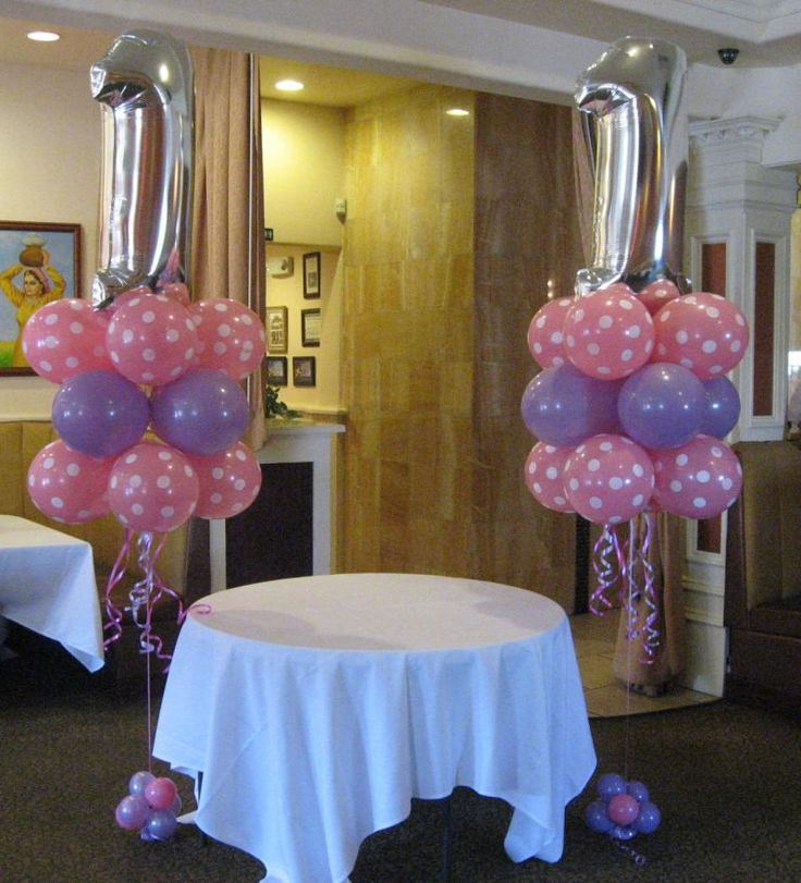First Birthday Balloon Decor - Google Search