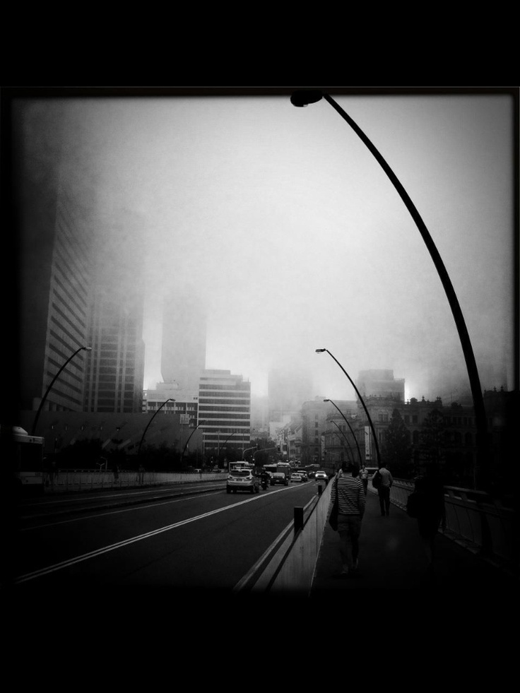 Foggy Brisbane day....
