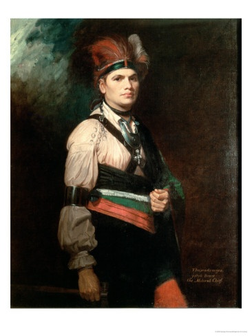 Joseph Brant, Chief of the Mohawks, 1742-1807 by George Romney