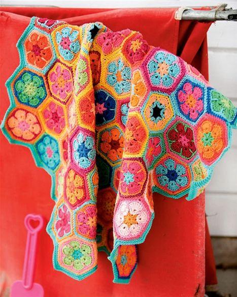 Hækl selv: Farverigt tæppe - Hendes Verden