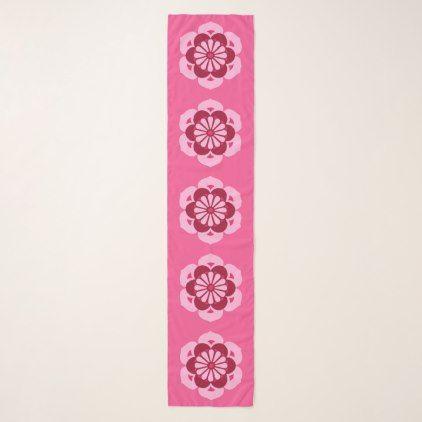 Lotus Flower Mandala Fuchsia Pink and Burgundy Scarf - burgundy style stylish cyo diy customize