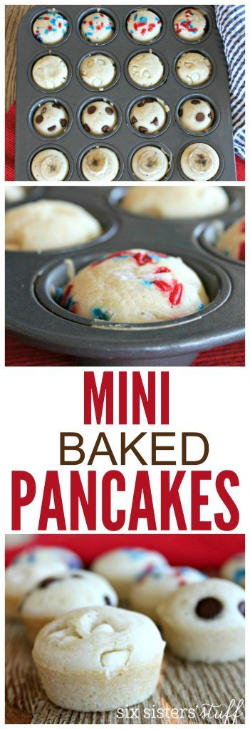 Mini Baked Pancakes 5 | This delicious breakfast is fast and easy for school mornings. They can even be made ahead of time and stored in the freezer for on-the-run mornings!
