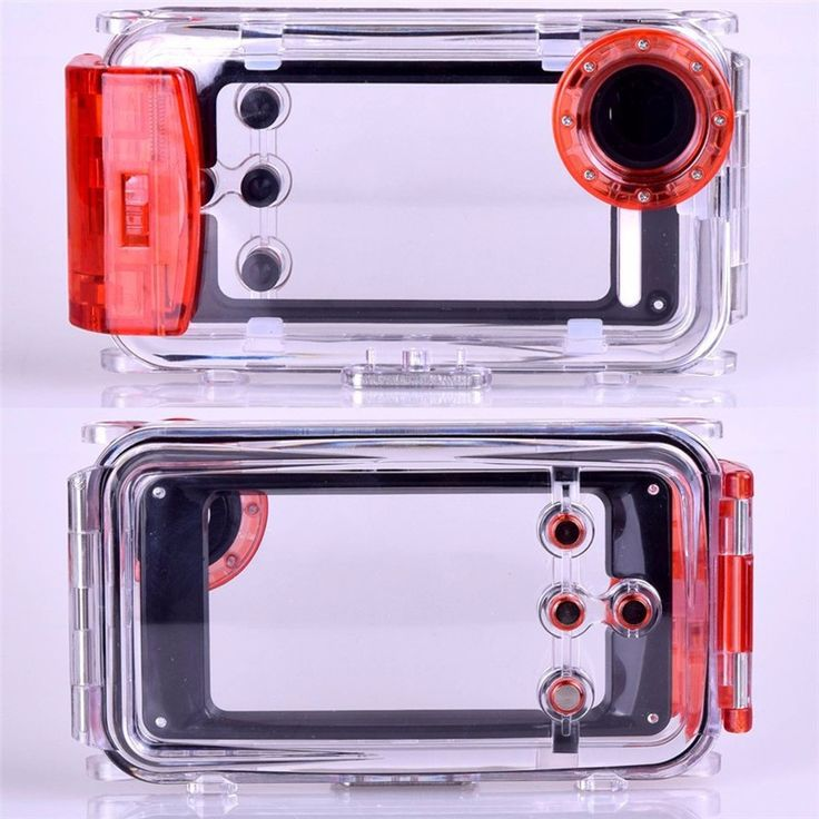 40M Diving Waterproof Camera Case for iPhone 5 5S High Quality Plastic Waterproof Phone Bag Cover for Swimming Extreme Sports