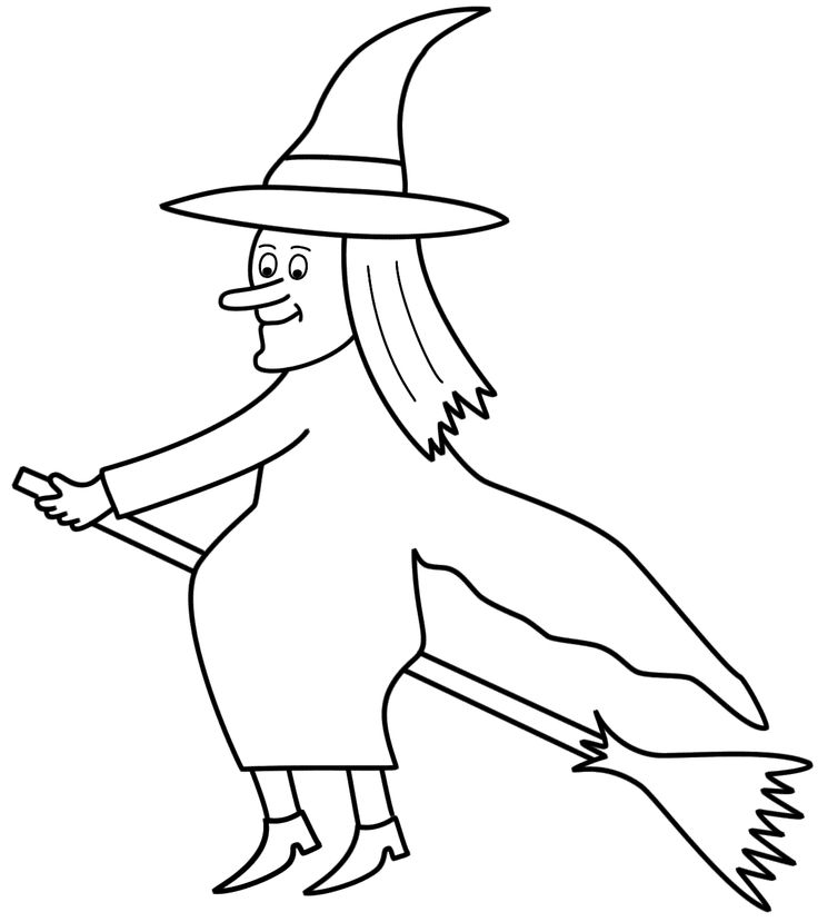 Witches Ride A Broomstick With A Smile