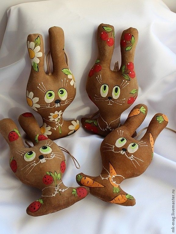 Купить Зайчики. - коричневый, кофейная игрушка, кофе, ароматизированная игрушка, зайка, зайчик, зайчик игрушка