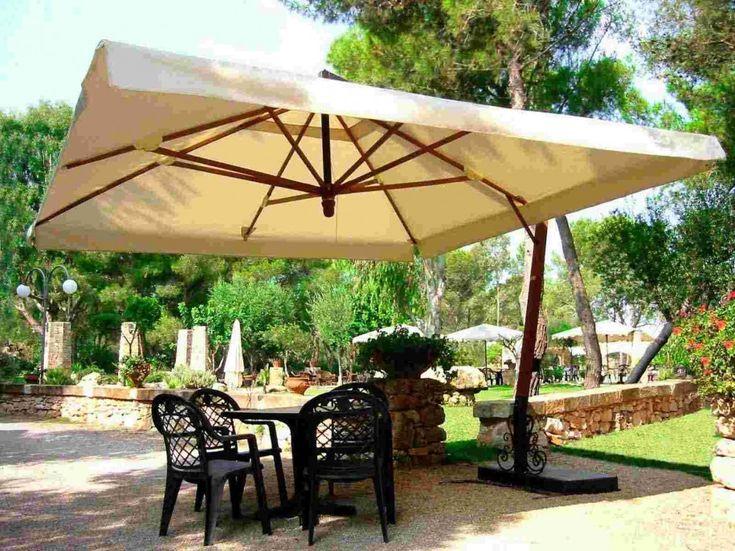 Exterior Design, Mesmerizing Garden Umbrella Large Sized: Astounding Outdoor  Umbrellas For Your Backyard