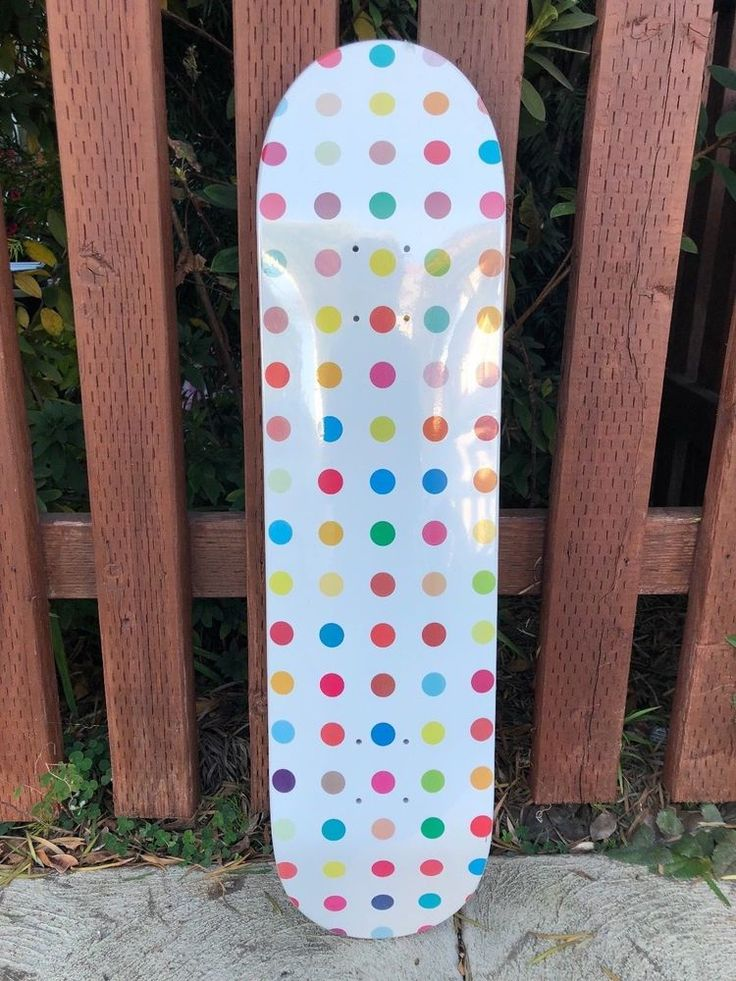 """Damien Hirst - 5 Dot Skateboard Deck from Supreme. Diethylene Glycol by Damien Hirst for Supreme. Entitled """"Diethylene Glycol"""", this is part of the 5 skateboard decks series by Damien Hirst for Supreme. 