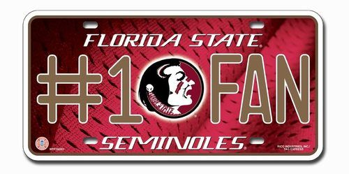Florida State Seminoles License Plate - #1 Fan