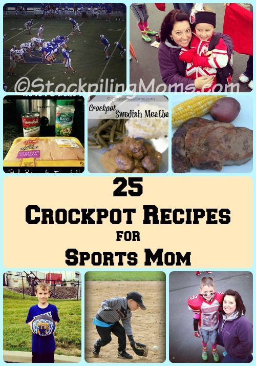25 Crockpot Recipes for Sports Mom! Quick and easy meals to feed your family when on the go!