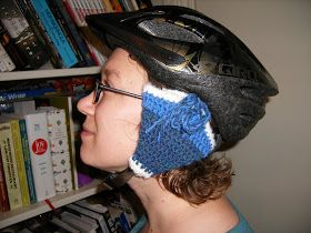 Once Upon a Yarn: Bike Helmet Ear Warmers