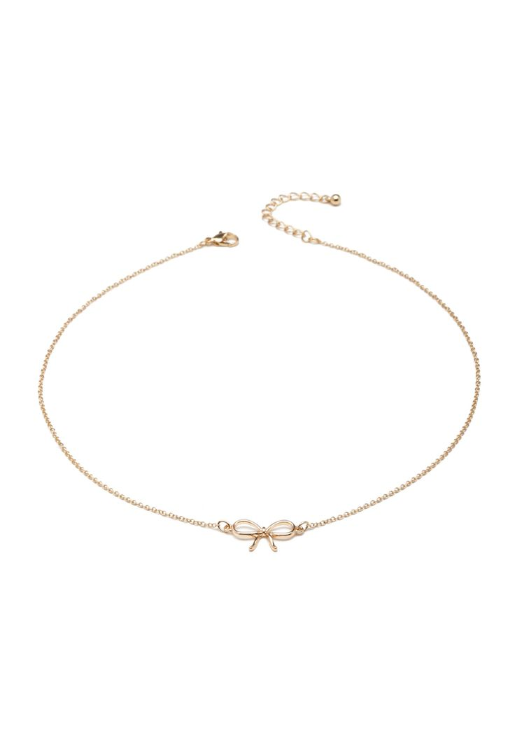 Bow Charm Necklace - Jewellery - 1000138447 - Forever 21 EU
