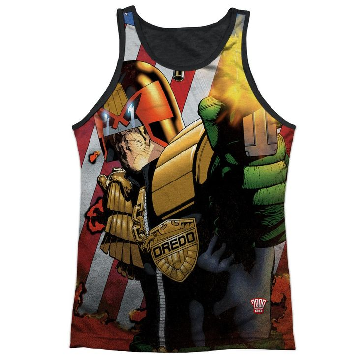 """Checkout our #LicensedGear products FREE SHIPPING + 10% OFF Coupon Code """"Official"""" Judge Dredd/democracy-adult Poly Tank Top T- Shirt - Judge Dredd/democracy-adult Poly Tank Top T- Shirt - Price: $24.99. Buy now at https://officiallylicensedgear.com/judge-dredd-democracy-adult-poly-tank-top-t-shirt-licensed"""