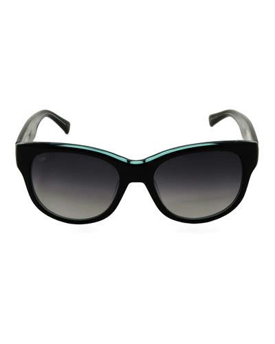 LOREE RODKIN Collection By SAMA  Made In Japan Black/Teal Sunglasses Retail $720 #LoreeRodkin #Designer