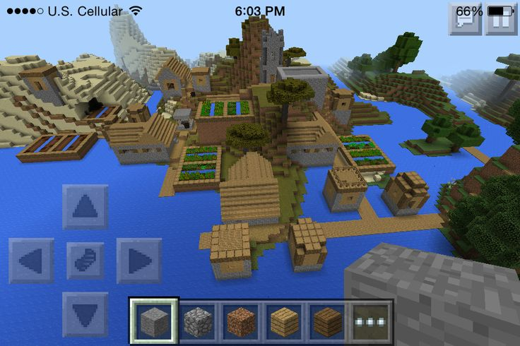 how to make a castle in minecraft pe in seconds