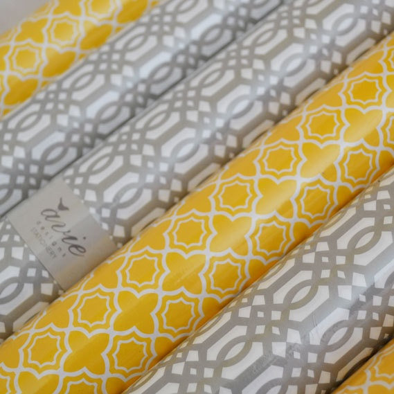 Adore the yellow Baroque wrapping paper by Avie Designs, and the other options aren't bad either! (via design crush http://www.designcrushblog.com/2011/02/01/valentines-for-your-valentine/)