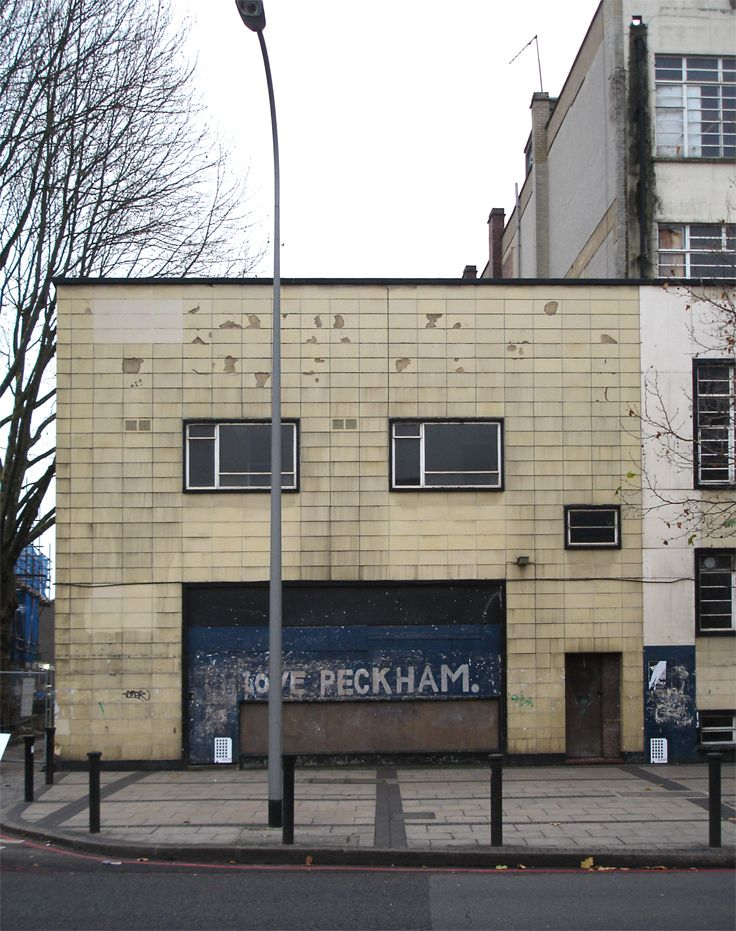 Peckham, the I Love Peckham sign on Winnie Mandela House, Peckham Road Photo: Jake Tilson, 2004