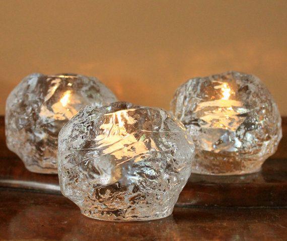 Vintage Kosta Boda Snowball Votive Candle by MillyCatVintage