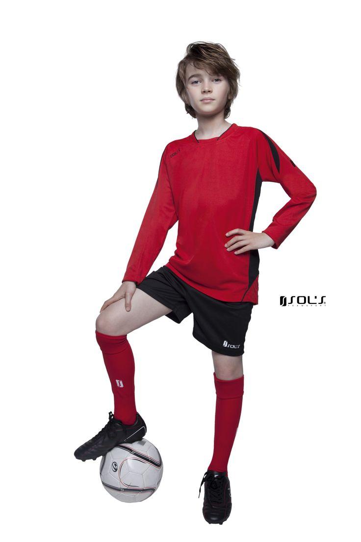 Dětský fotbalový dres s dlouhým rukávem Sol's: 90207 / MARACANA KIDS LSL