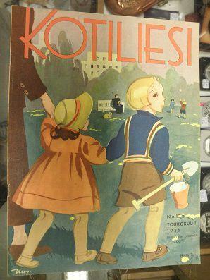 Kotiliesi Magazine cover by Martta Wendelin, 1936.