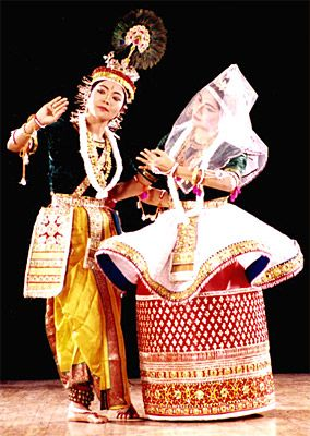 'Manipuri' a classical dance form from Manipur, India