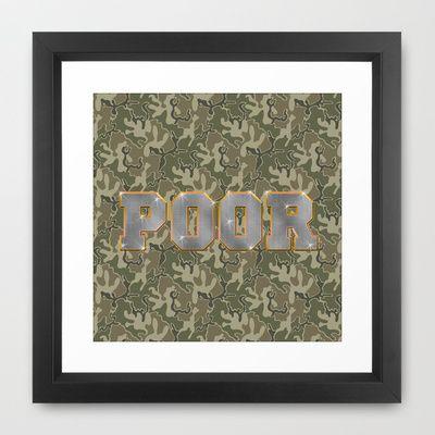 Hood Rich Framed Art Print by Jason  - $34.00
