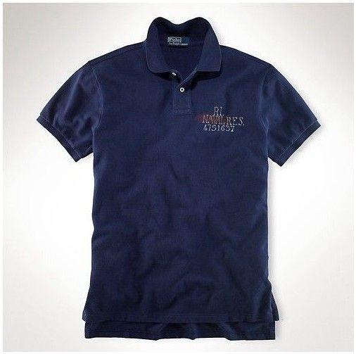 ralph lauren soldes! Polo Ralph Lauren particulière Homme 1701 coton à manches courtes Polo dans la Marine