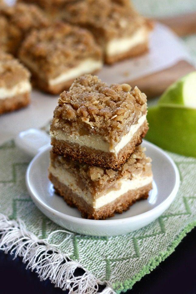 Apple Streusel Cheesecake Bars.