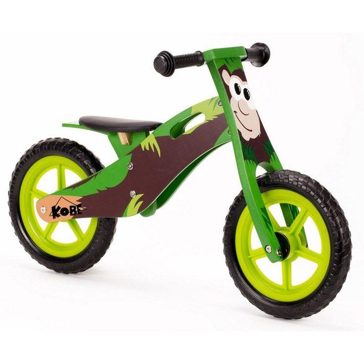 "Wooden Balance Bike ""Monkey"" Run glide stride Bicycle toddler Preschool in Sporting Goods, Cycling, Bicycles | eBay"