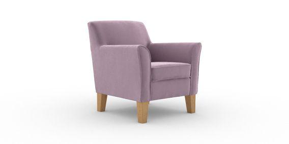 Buy Alfie Chair 1 Seat Plush Velvet Mauve High Tapered Light