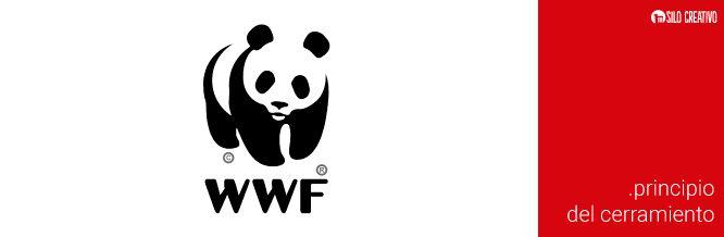 Logo de WWF, ejemplo del Principio del Cerramiento de la Gestalt  https://www.silocreativo.com/principios-gestalt-diseno-grafico/