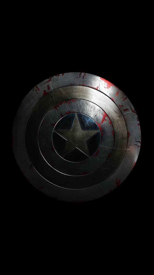 Captain America Avengers Hero Sheild Small Dark Iphone 8 Wallpapers Captain America Wallpaper Dark Wallpaper Iphone Marvel Wallpaper